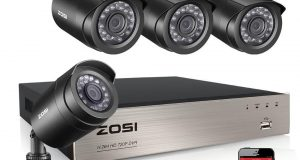 ZOSI 8CH 1080N HDMI DVR 720p Outdoor Security Camera System with Hard Drive 1TB 1
