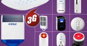 DIY W193 WiFi 3G GSM APP KERUI Wireless Home Alarm System,Accessories,US STOCK 8