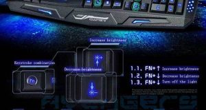 Multimedia Illuminated USB Wired LED Backlight Gaming Keyboard Ergonomic Backlit 4