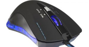 USB OPTICAL GAMING MOUSE BLUE LED 2400DPI PC LAPTOP GAMES NEW 4