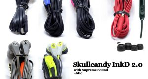 OEM Skullcandy Ink'd 2.0 Earbuds Headphone Wired W/Mic Remote Black Red Blue 4