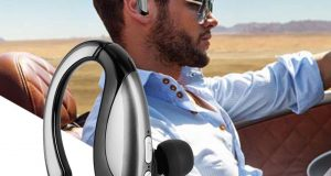 Wireless Bluetooth V4.0 Stereo Business Work Headset Earphone For iPhone Samsung 4
