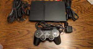 Sony PlayStation 2 Slim Console with controller & hookups 1