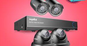 SANNCE 4CH 1080P HDMI DVR 720P 1500TVL IR CUT CCTV Security Camera System 1TB US 8