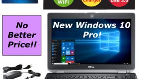 "DELL LAPTOP LATITUDE 15.6"" WEBCAM WINDOWS 10 PRO WIFI HDMI DVD HD 320GB USB 3.0 1"