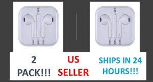 {2 Pack} OEM Earphones For Apple iPhones 6 5 4 w/ Mic Headphone - BRAND NEW 8