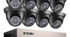 ZOSI 1080P HDMI HD 8CH TVI DVR 720P IR CUT CCTV Security Camera System 1TB US 4