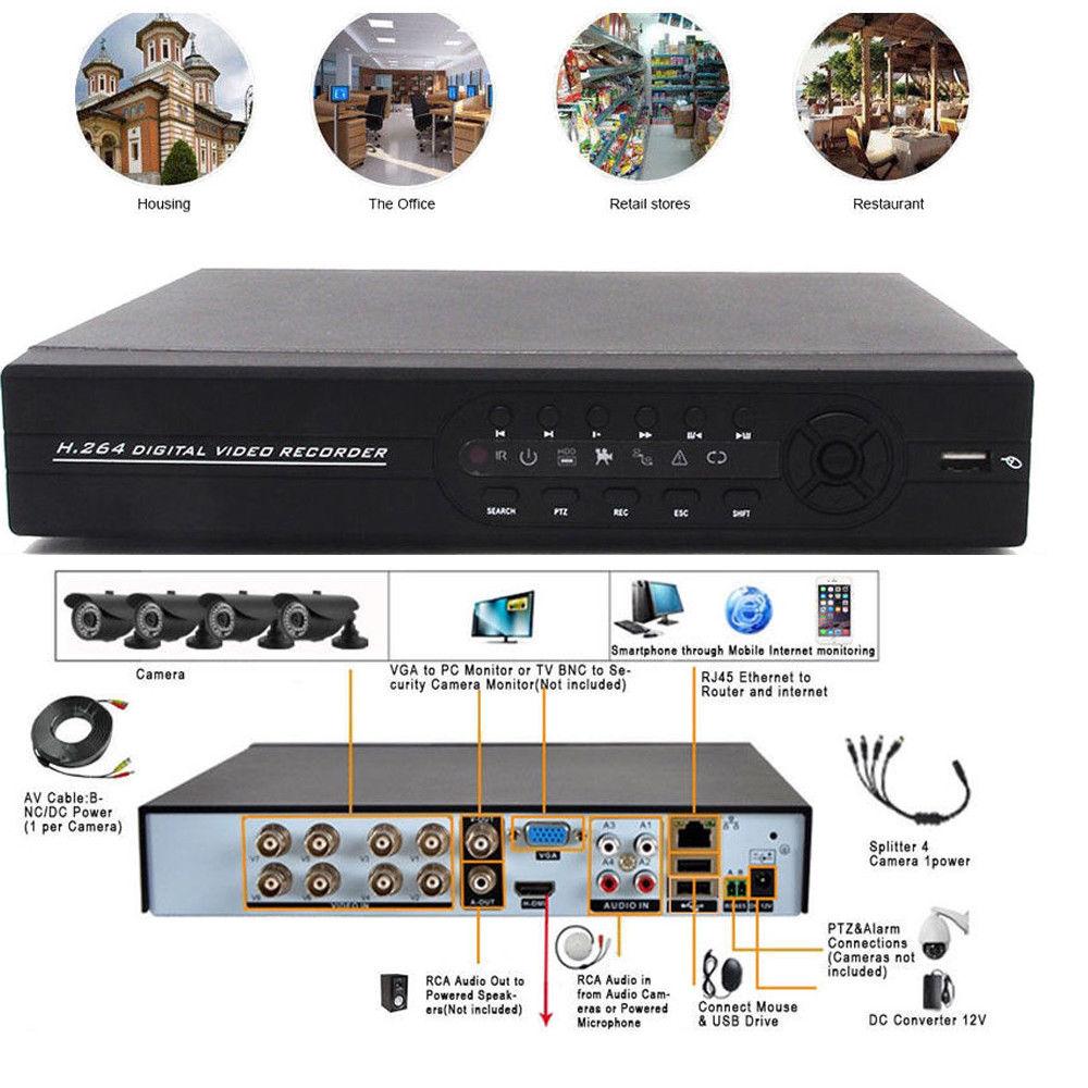 8ch Channel 1080p Hdmi Standalone Dvr Video Record Vga For