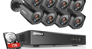 ANNKE 1080P HDMI 5in1 8CH DVR 720P IR CUT CCTV Security Camera System 1TB APP 1