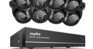 SANNCE 8CH HD 1080N DVR In/Outdoor 4x 960P Dome CCTV Home Security Camera System 8