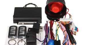 Universal 1 Way Car Security Alarm System w/2 Key Remote Controls Shock Sensor 8