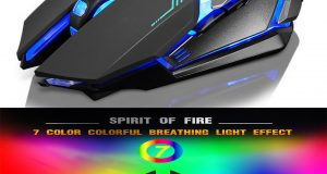 X7 LED Rechargeable Wireless Backlit USB Optical Ergonomic Gaming Mouse Mice 6
