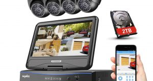 SANNCE 4CH 1080N DVR LCD Monitor 1500TVL Outdoor IR Home Security Camera System 1