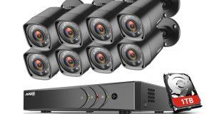 ANNKE 4CH/8CH 1080N 5IN1 HD DVR 1500TVL IR Day Night Security Camera System 1TB 4