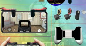 PUBG Shooter Controller Smartphone Mobile Gaming Trigger Fire Button Handle L1R1 8