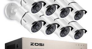 ZOSI 8CH 1080p DVR 2TB HDD 8 2MP Outdoor Camera IR Home Security Camera System 8