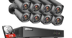 ANNKE 8CH 1500TVL IR CCTV Security Camera System 1080P Lite 5in1 HD DVR APP HDMI 4