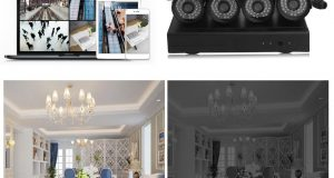 ZMODO Wireless Security System Home Indoor Outdoor 4CH 720p NVR 1TB Hard Drive 4