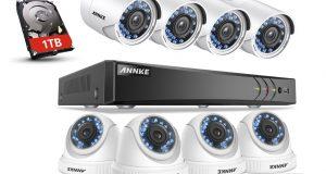 ANNKE 3MP CCTV 5IN1 8CH DVR 3000TVL IR Outdoor Security TVI Camera System 1TB 2