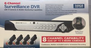 BUNKER HILL 8 Channel Surveillance Security Systems 4Cameras NEW 61229 DVR 500GB 4