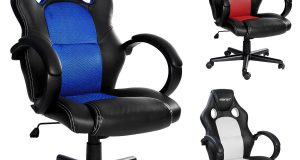 High Back Swivel Racing Car Style Bucket Seat Office Desk Chair Gaming Chair 6