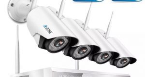 A-ZONE 4 CH 1080P NVR AHD Home Security Camera System 8