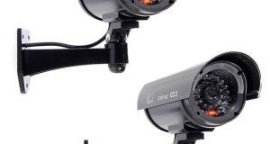 2 x IR Bullet Fake Dummy Surveillance Security Camera CCTV w/ Light LED Sensor 8