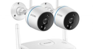 ZOSI 1080p 4CH Mini NVR 2 HD 2MP Outdoor WiFi IP Wireless Security Camera System 1